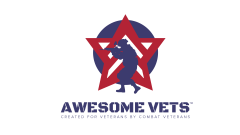 Awesome Vets front print logo with no stars